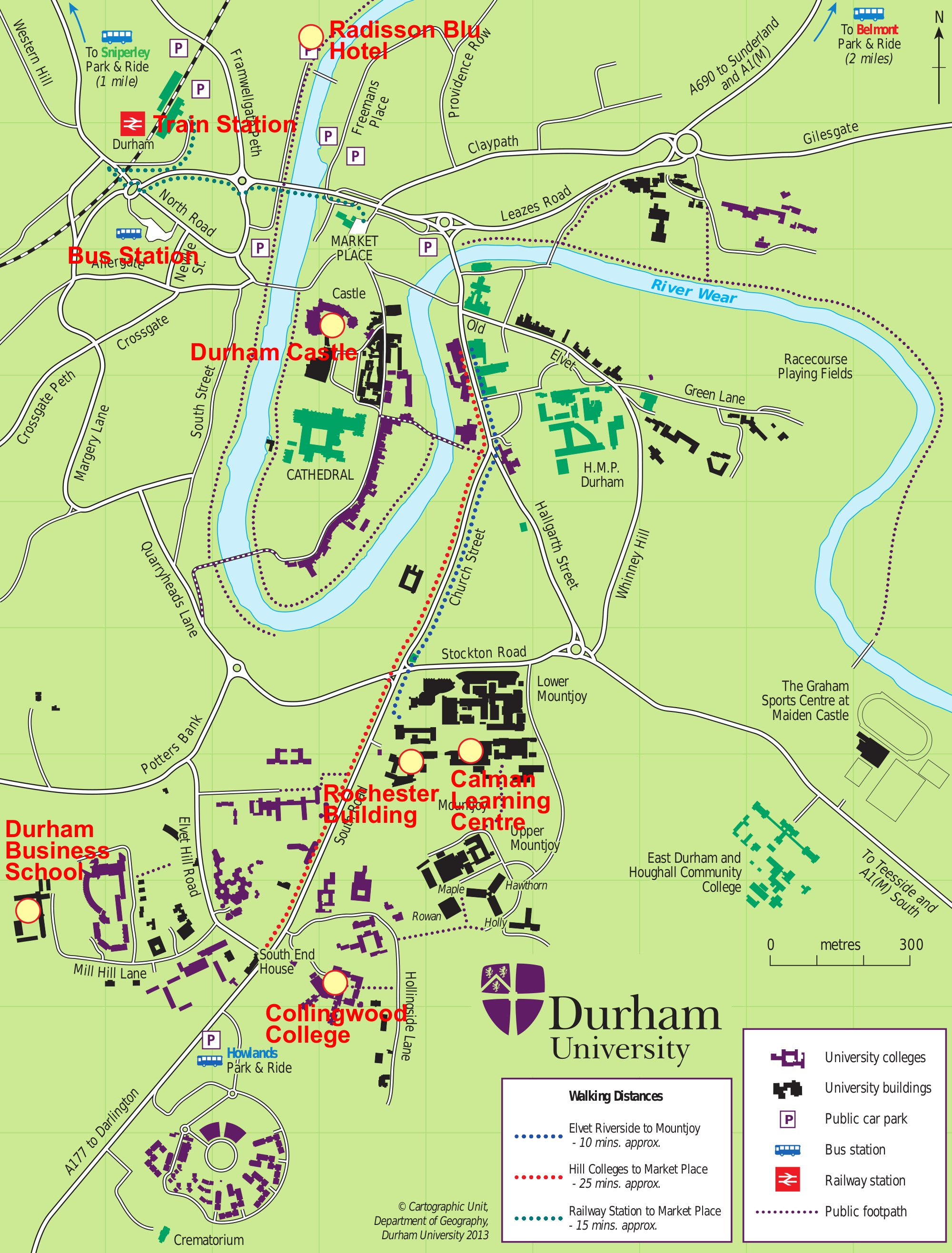 Map Of England Durham.Durham