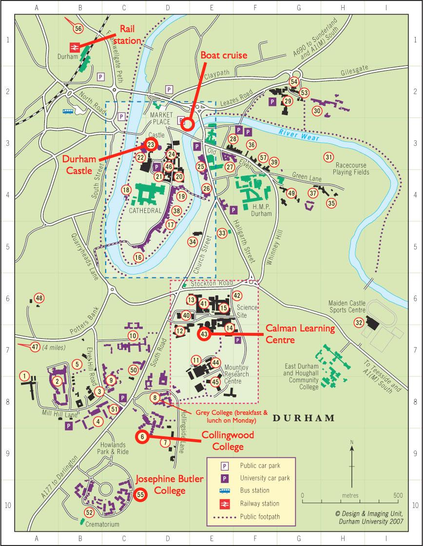 Map Of Uk Universities And Colleges.Top 10 Punto Medio Noticias Durham University College Campus Map